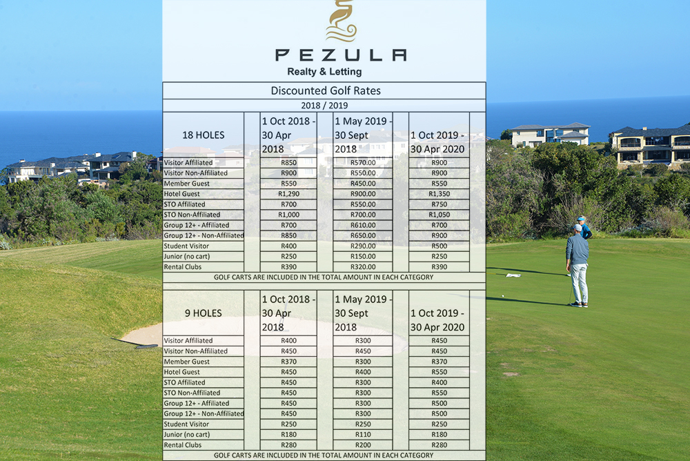 Services at Pezula Realty and Letting Knysna